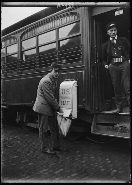 [U.S. Mail box on train]