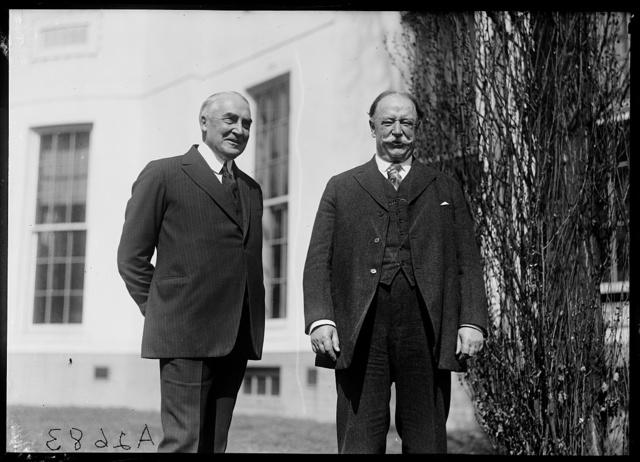 [Warren G. Harding and William H. Taft, White House, Washington, D.C.]