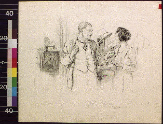 When the Bumbleton merchant employed a woman clerk, his wife didn't say anything