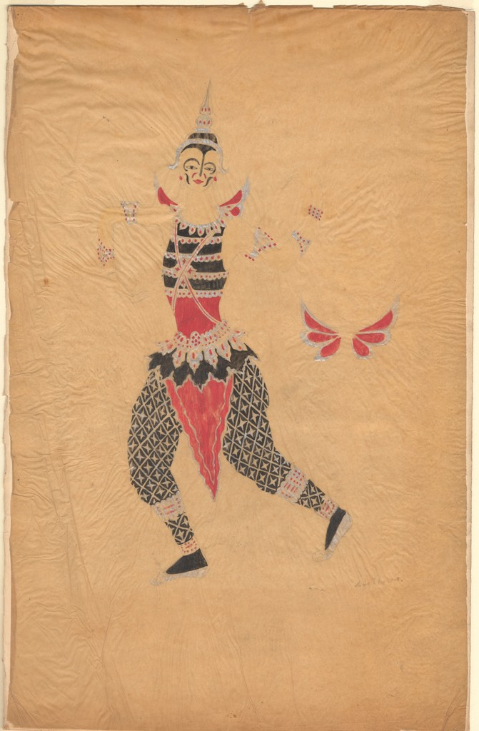 Natalia Goncharova's color design for the Siamese Butterfly in Aurora's Wedding, 1921