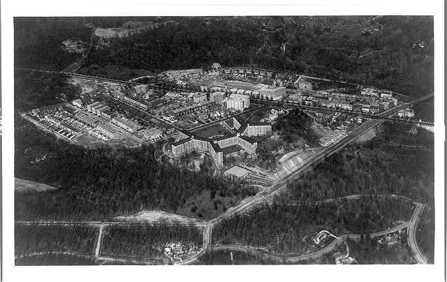 [Aerial view of Wardman Park Inn, Washington, D.C.]