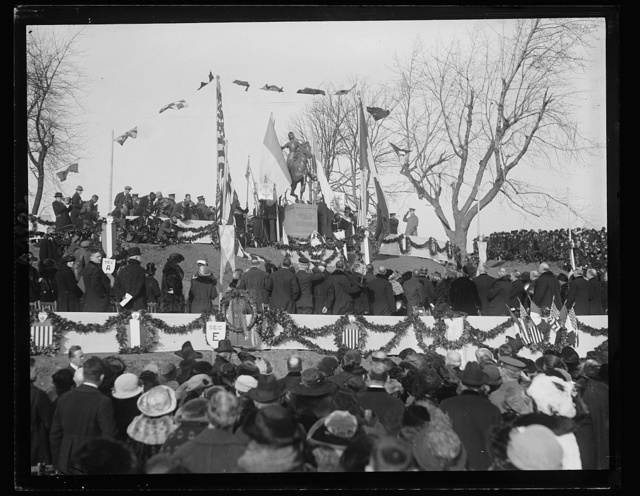 [Ceremony at Jeanne d'Arc Memorial, Meridian Hill Park, Washington, D.C.]