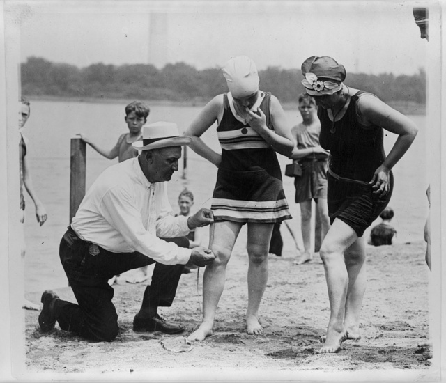 Col. Sherrell, Supt. of Public Buildings and Grounds, has issued an order that bathing suits at the Wash[ington] bathing beach must not be over six inches above the knee ...