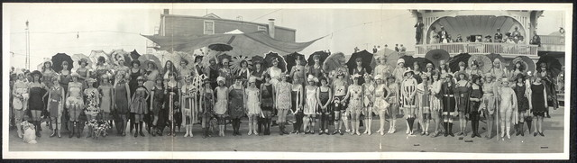 Contestants, Bathing Girl Revue, Galveston, Tex., May 14th, 1922