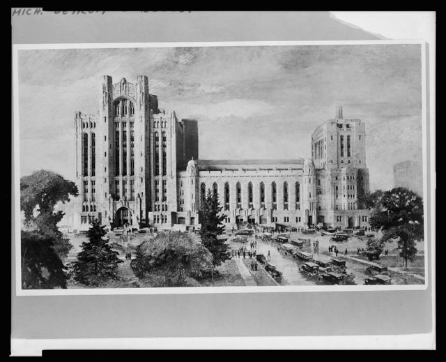 Detroit, Michigan, new Masonic Temple, S.E. view / Birona Roger.
