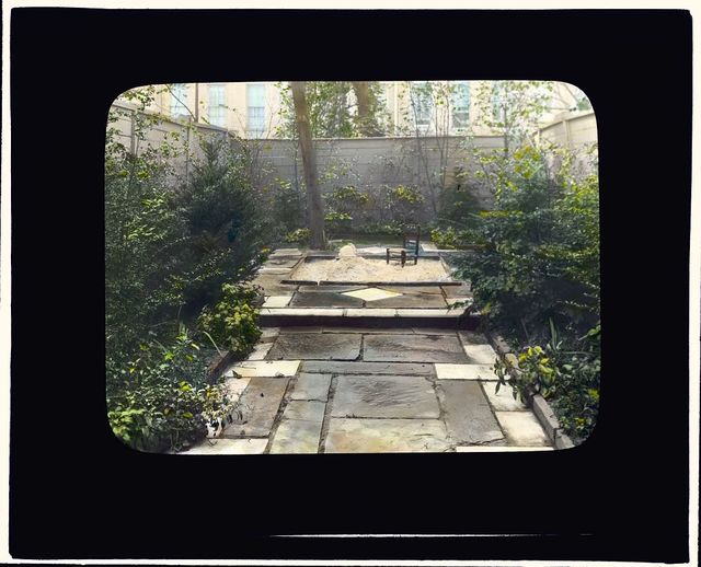 [Dr. Henry Alexander Murray, Jr., house, 129 East 69th Street, New York, New York. View from terrace to sandbox]