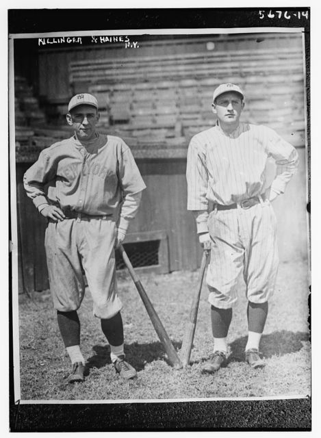 [Glenn Killinger & Hinkey Haines, prospects with New York AL (both pro football players) (baseball)]