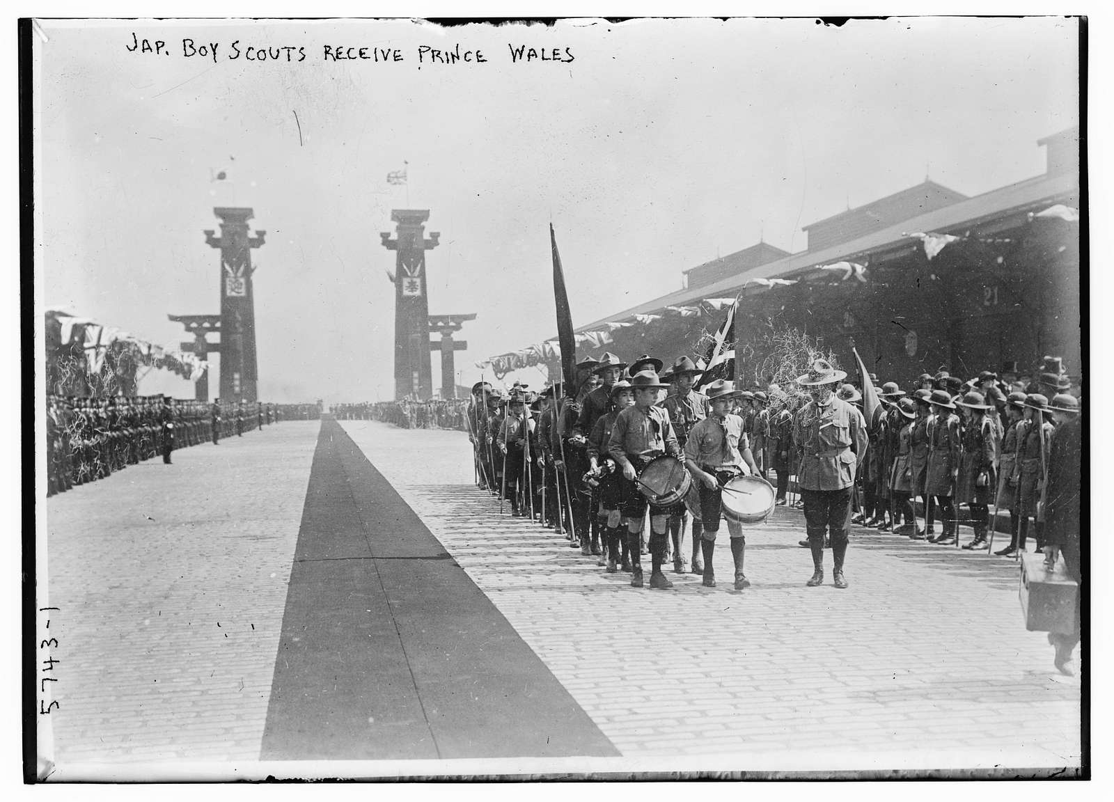 Japanese Boy Scouts receive Prince Wales