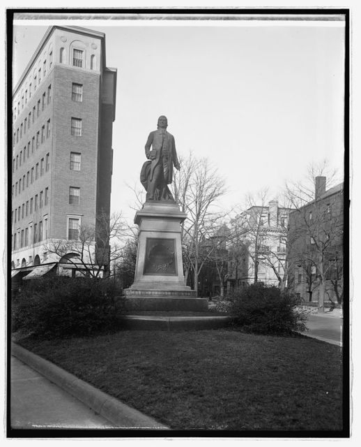 John Witherspoon statue, [Washington, D.C.], 1922