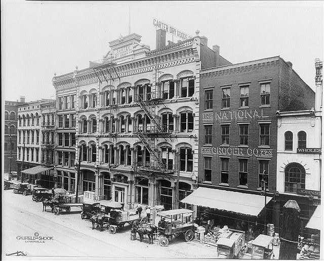 Kentucky scenes: Main Street, Louisville, showing Carter Dry Good Co.