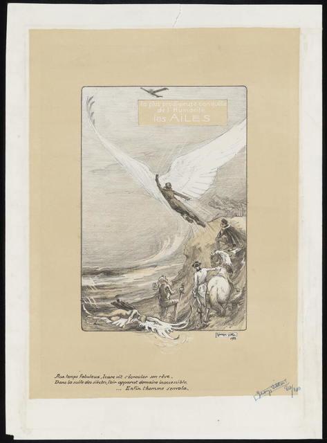 La plus prodigieuse conquête de l'humanité, les ailes / Georges Villa 1922.