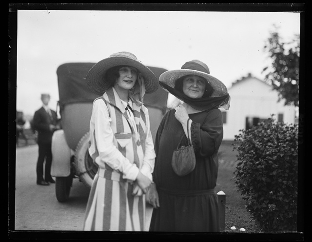 Mrs. Moffett and Miss Janette Moffett, wife and daughter of Admiral Moffett