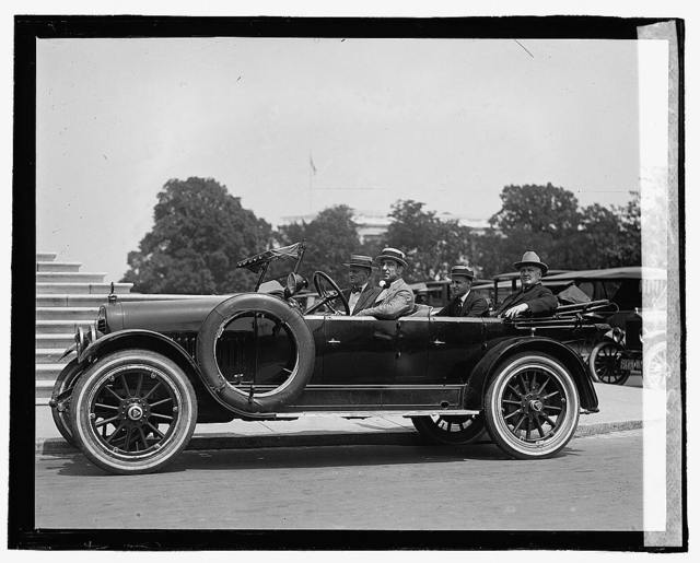 Pat Crowe in auto, [7/28/22]