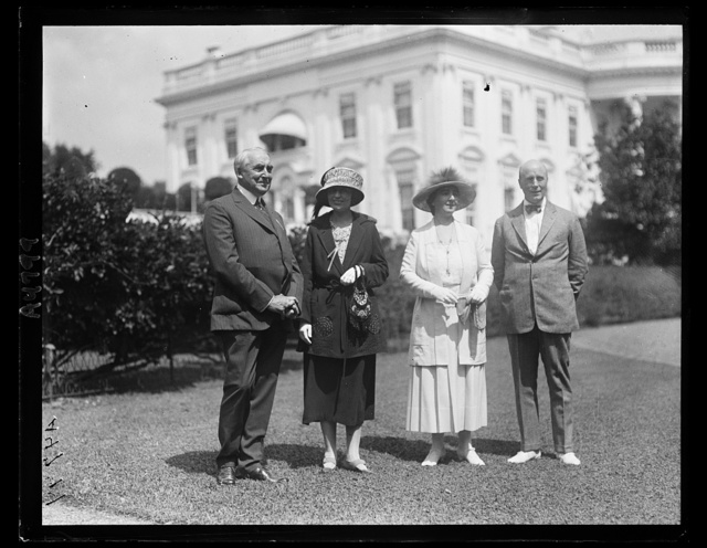 Pres. Harding, Sen. and Mrs. Oddie and Mary Harrigan of Reno