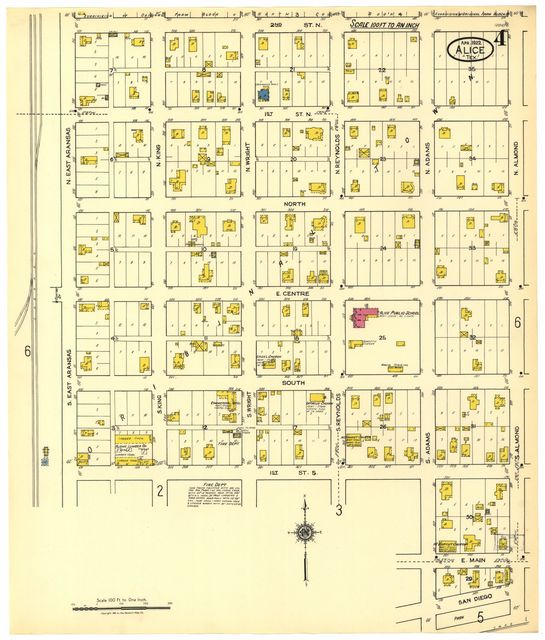 Sanborn Fire Insurance Map from Alice, Jim Wells County, Texas.