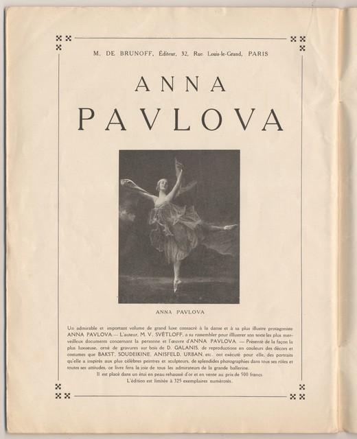Program Officiel des Ballets et Opéras Russes de Serge de Diaghilew (Théatre National de L'Opéra), Mai-Juin 1922