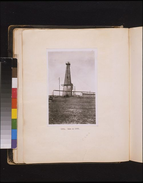 An oil well in Roumania owned by German capitalists