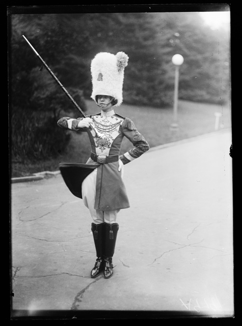 [Band member, Drury High School band, North Adams, Massachusetts, at White House, Washington, D.C.]