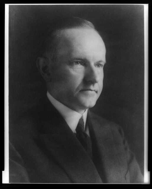 [Calvin Coolidge, head-and-shoulders portrait, facing right]