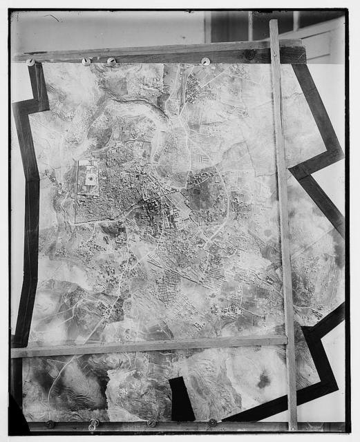 Copy of relief map Jerusalem and environs