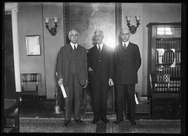 Crissinger, Secy. Mellon and Henry W. Dawes