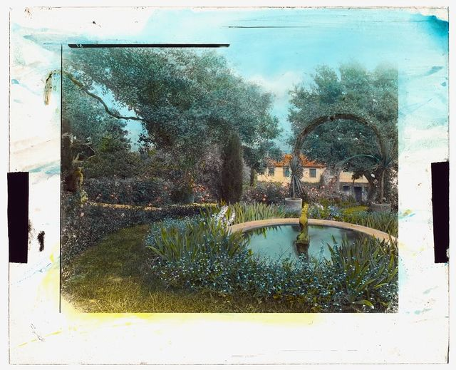"[""El Cerritto,"" Edward Larned Ryerson Jr. house, Hot Springs Road, Santa Barbara, California. Pool]"