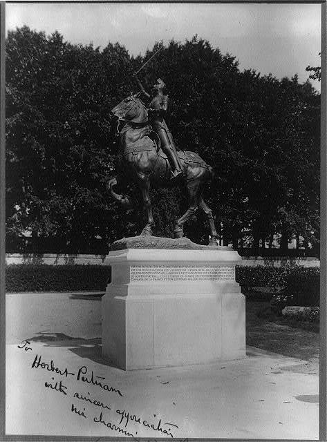 [Equestrian statue of Joan of Arc in Blois, France] / Paul [Gros?], Blois.