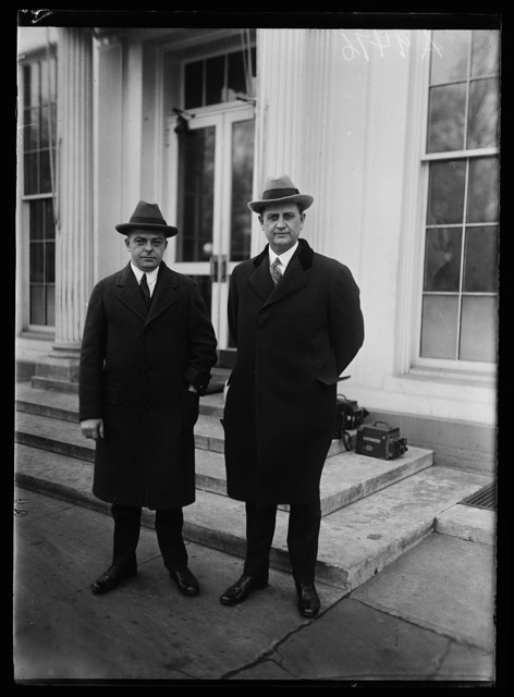 [Everett Sanders, right. White House, Washington, D.C.]