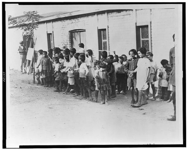 Greek and Armenian refugee children in barracks near Athens--Greece received 1,000,000 refugees or one to each family of the country