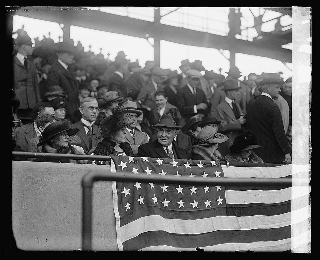 Harding at ball game, [4/26/23]