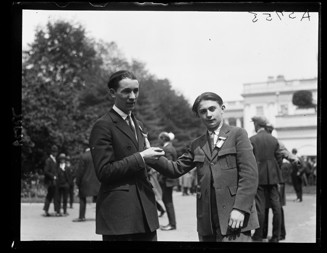 Harry Cahen and Leo Karlin, who debate at Boys Club Federation