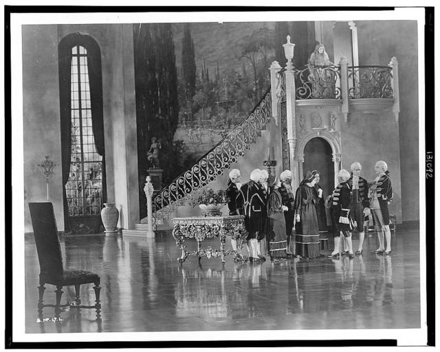[Hollywood set - interior view of palace]