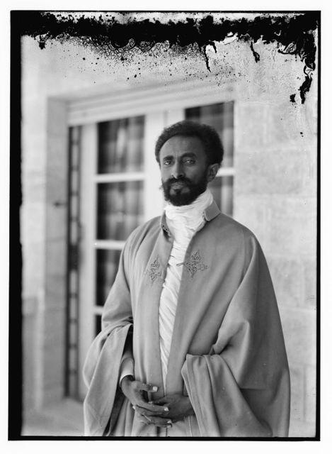 H.S. [i.e., Haile Selassie] in robe