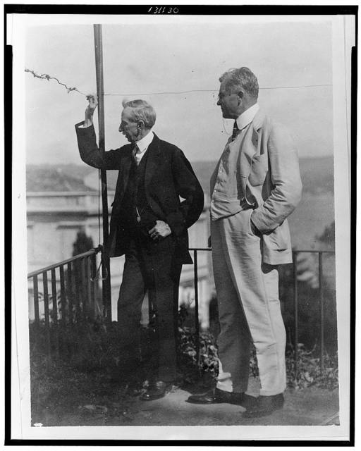 In the terraced garden rising behind his home on the Bosphorus, the Hon. G.B. Ravendael [i.e., Ravndal], American Consul-General in Constantinople, points out the Giant's Hill (or Goliath's Hill??) over on the Asiatic side and in the shelter of it the huge tanks of Standard Oil Co.