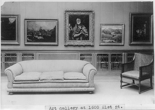 [Interior of art gallery at 1600 21st St., Washington, D.C., which has been opened to the public by Duncan Phillips and dedicated as a memorial to his father]