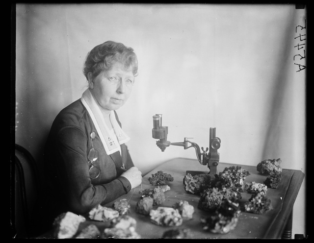 Isaac Lea collection of precious stones. Miss Margaret W. Moodey in charge