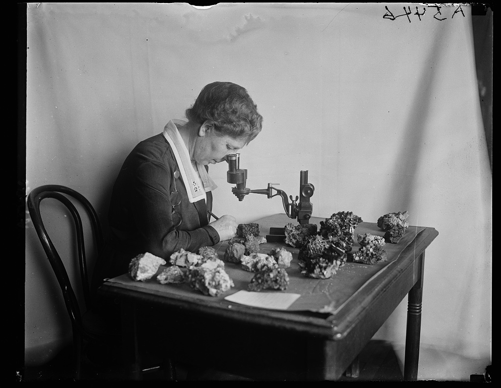 Issac Lea collection of precious stones. Miss Margaret W. Moodey in charge
