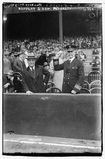 [Jacob Ruppert & Admiral Charles Peshall Plunkett, Commandant of Brooklyn Navy Yard (baseball)]