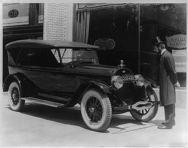 Judge Charles Edward Ball without [sic] makeup. Salt Lake Lincoln car no. 8