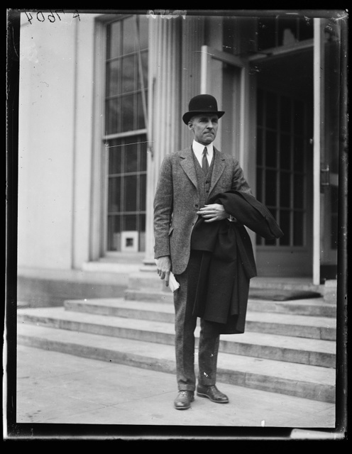 Leigh C. Palmer, Pres. of the Emergency Fleet Corp., recently appointed by Pres. Coolidge; at White House