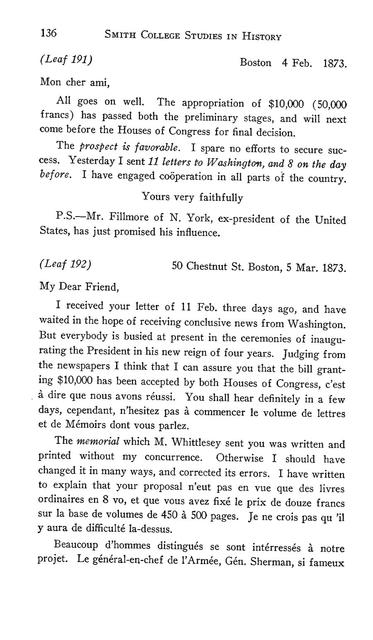 Letters of Francis Parkman to Pierre Margry,
