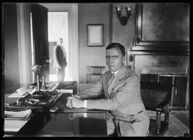 Major Gerrard B. Winston, new Asst. Secy. of Treasury, succeeding Col. Edward Clifford