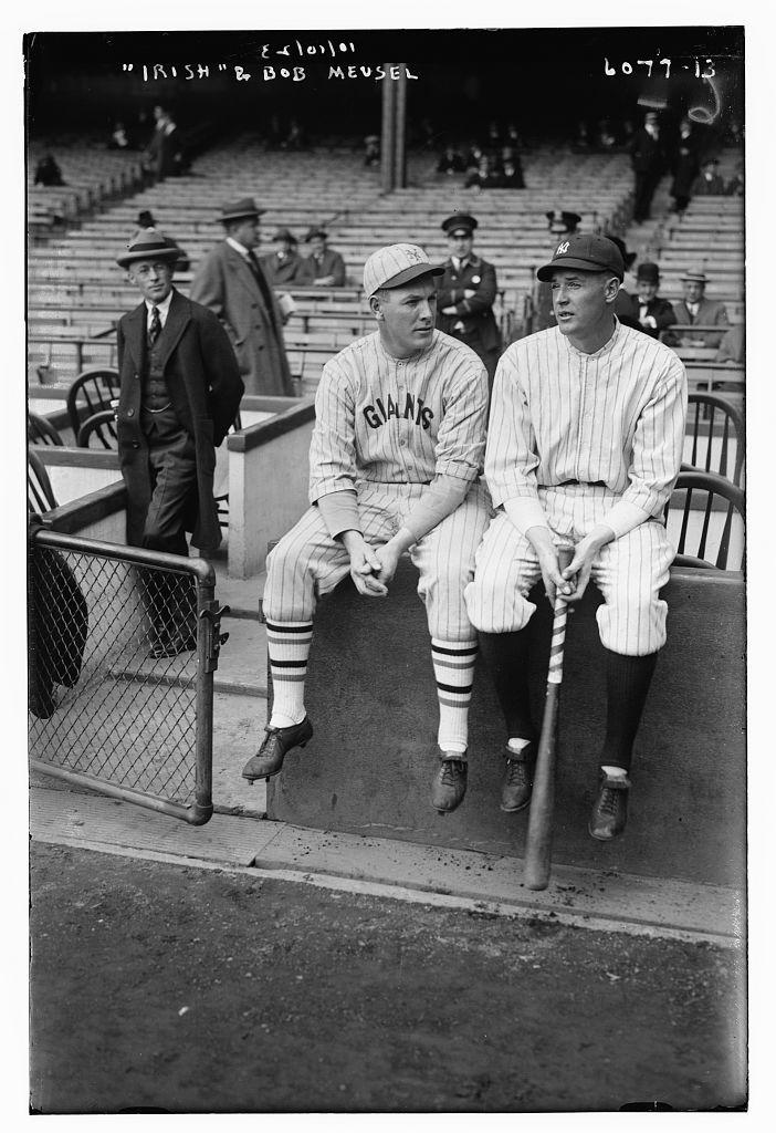 "Meusel, Emil F. ""Irish"" (Giants) & Bob Meusel (Yankees), 10/10/1923"