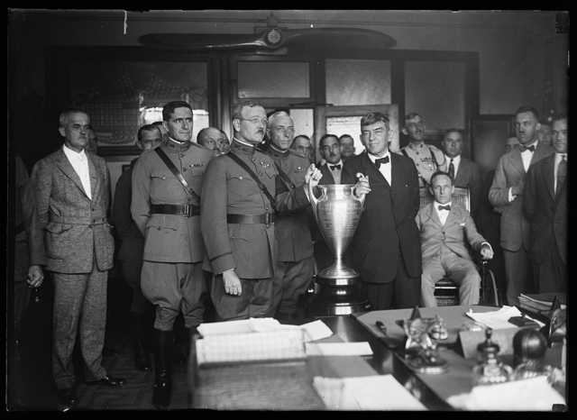 [Military group with trophy cup]