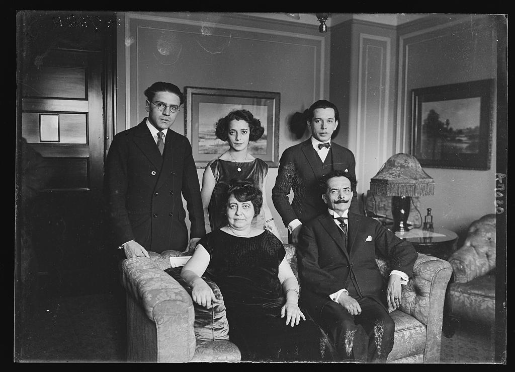 New Bolivian Minister Senor Ricardo Jaunes Freyre and family