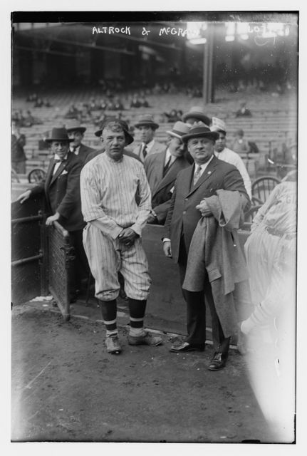 [Nick Altrock, Washington AL & John McGraw, manager, New York NL (baseball)]
