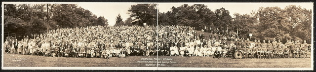 Pershing Family Reunion, Idlewild Park, Westmoreland County, Penna., September 8th, 1923