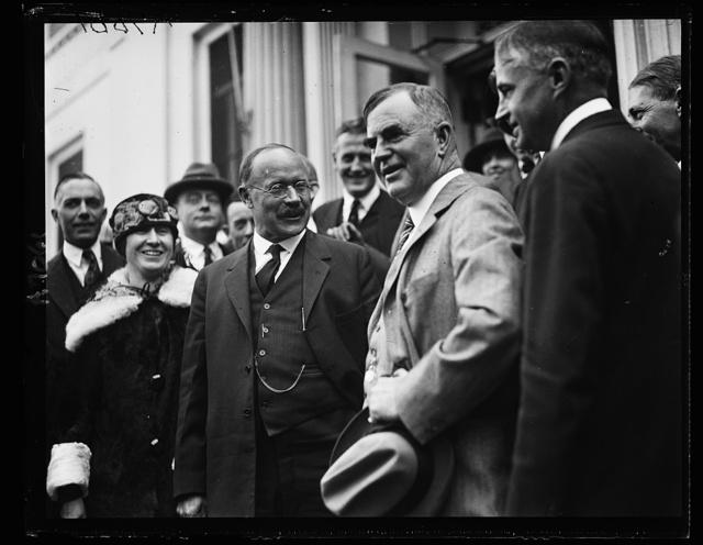 [Sen. Magnus Johnson and Sec. Henry C. Wallace at White House, Washington, D.C.]