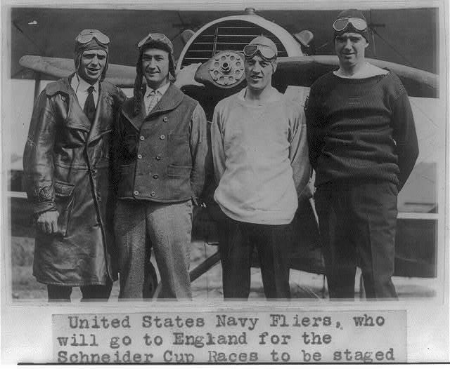 U.S. Navy flyers who will go to England for the Schneider Cup races