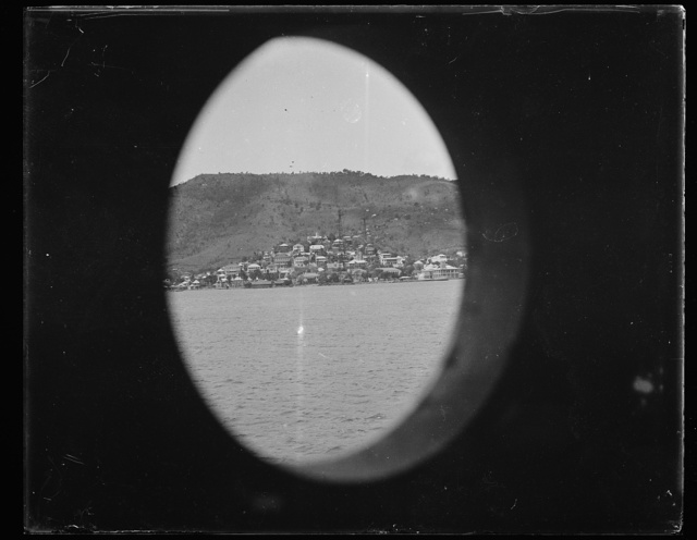 [View out of porthole]
